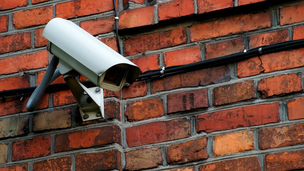 Cámara de vigilancia instalada en la ciudad