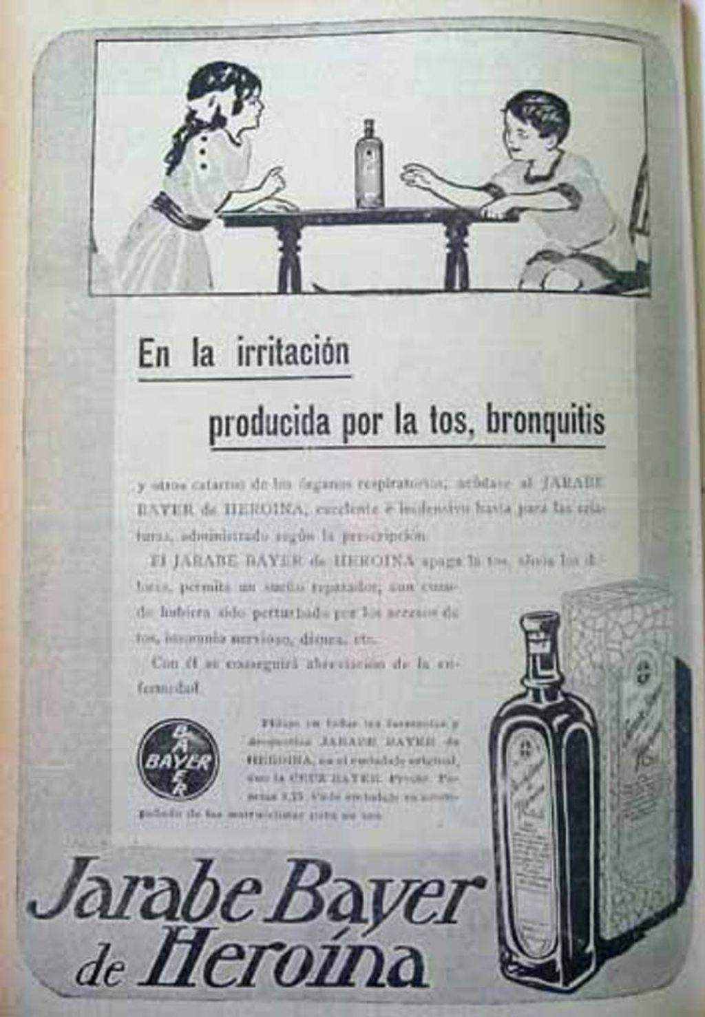 Anuncio de jarabe Bayer de Heroína