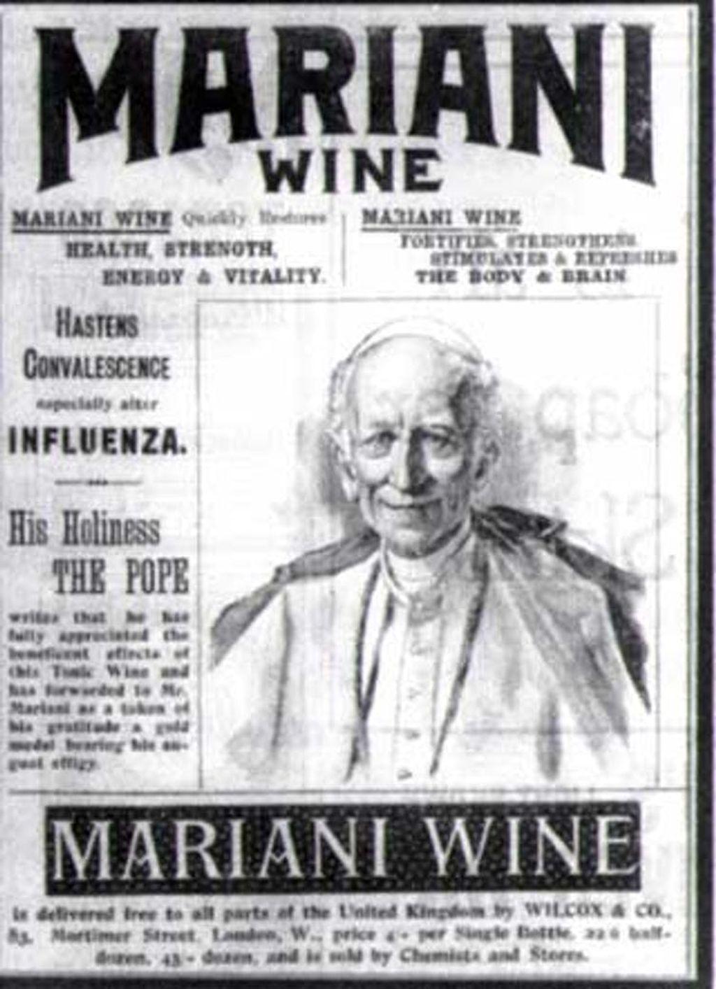 Anuncio de Vino Mariani