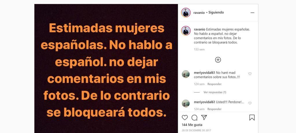 Ravan Bashirov mensaje mujeres españolas