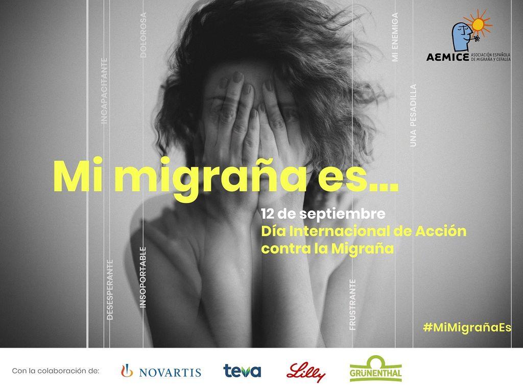 Cartel de la campaña 'Mi migraña es...'