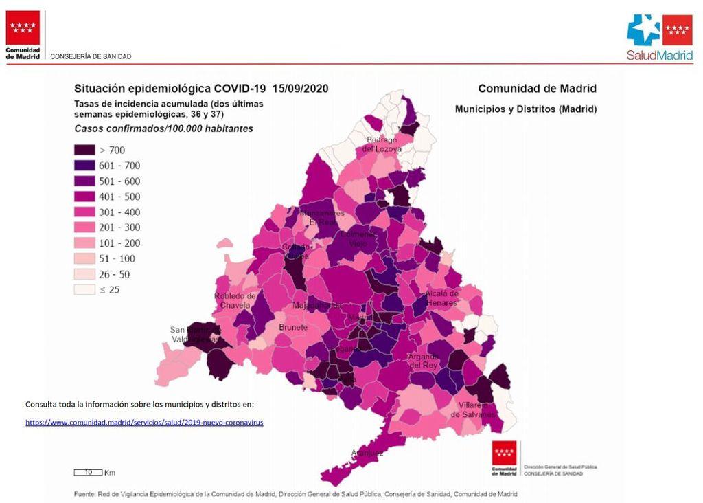 mapa epidemiologico madrid