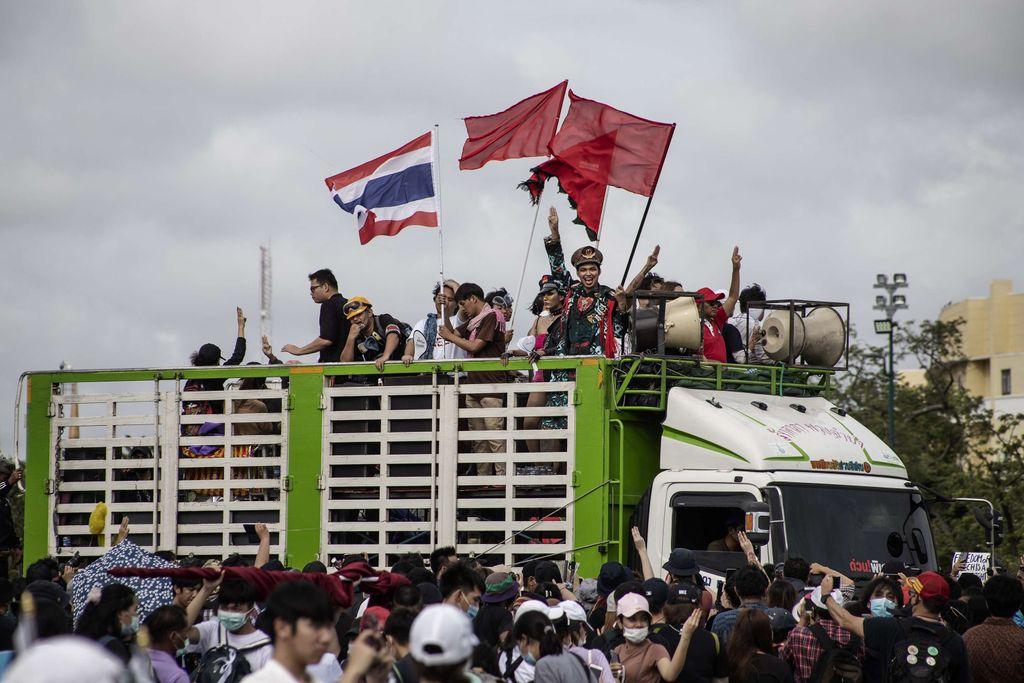 Protestas en Tailandia contra el Gobierno y la monarquía
