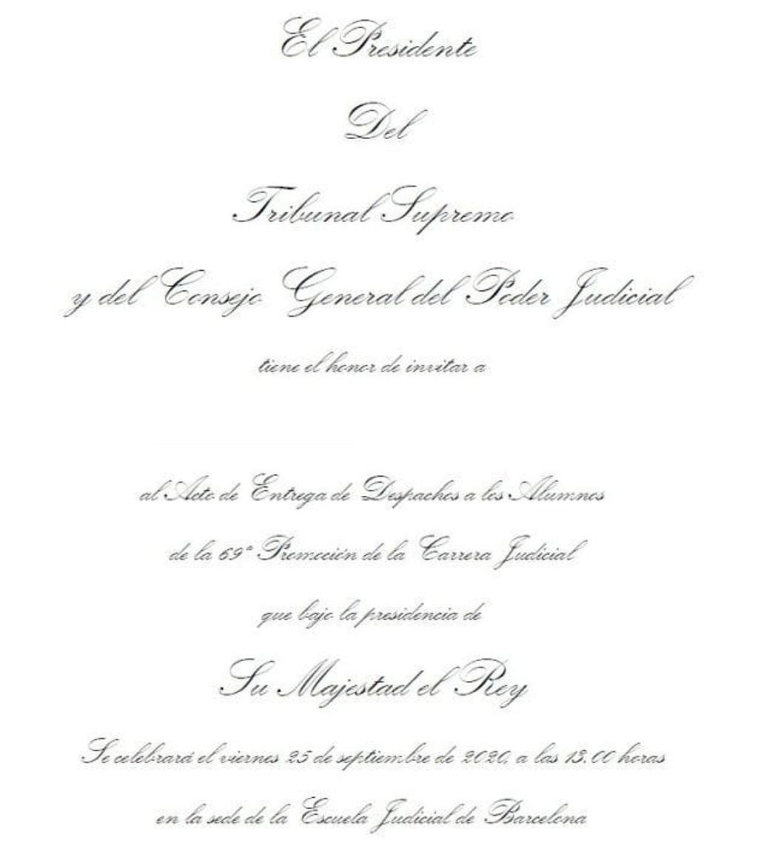 invitación poder judicial