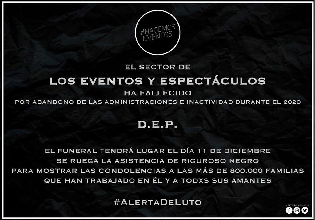 Funerales por la cultura en vivo