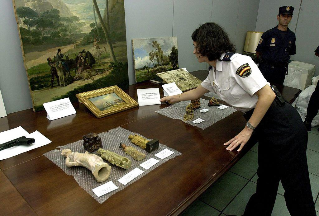 Obras de arte recuperadas en 2002 tras el robo a Esther Koplowitz.