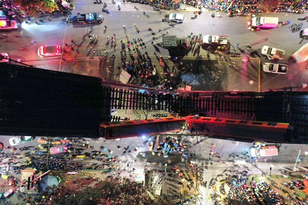 Accidente de metro en México