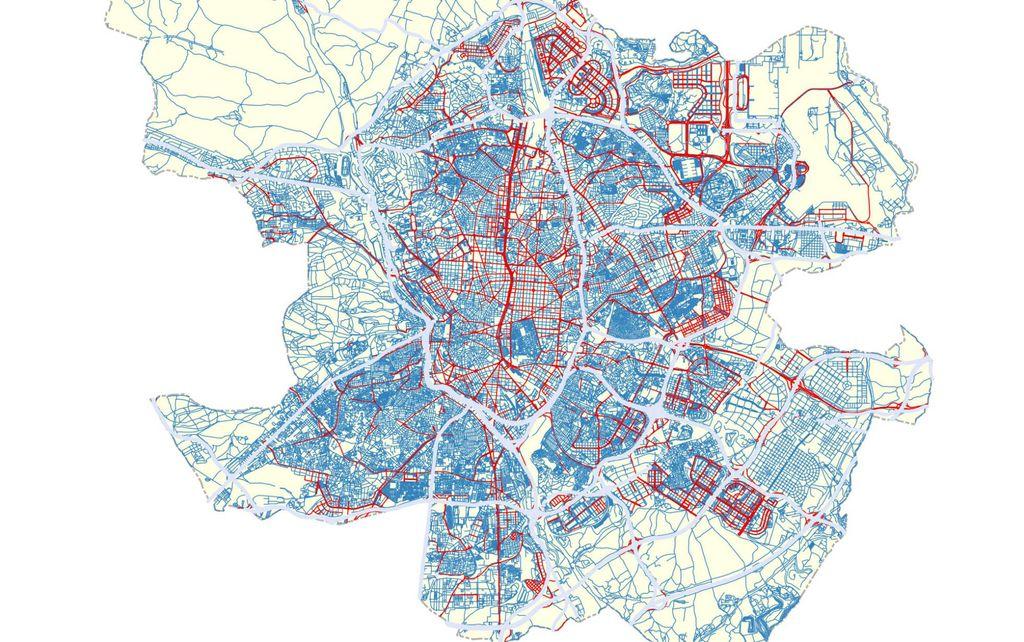 Mapa de la velocidad en Madrid