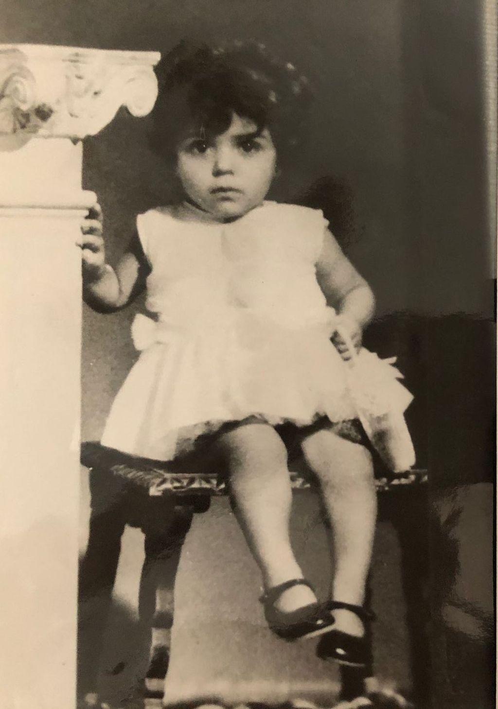 Reyes Jiménez en una fotografía de pequeña.