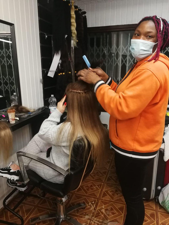 Beauty, en la peluquería.