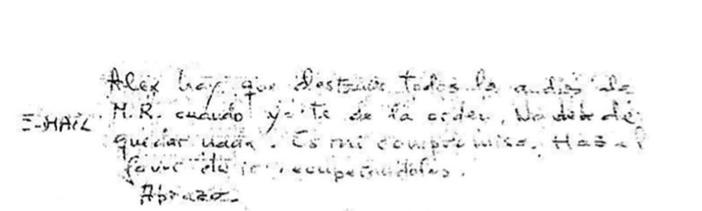 Nota de Bárcenas