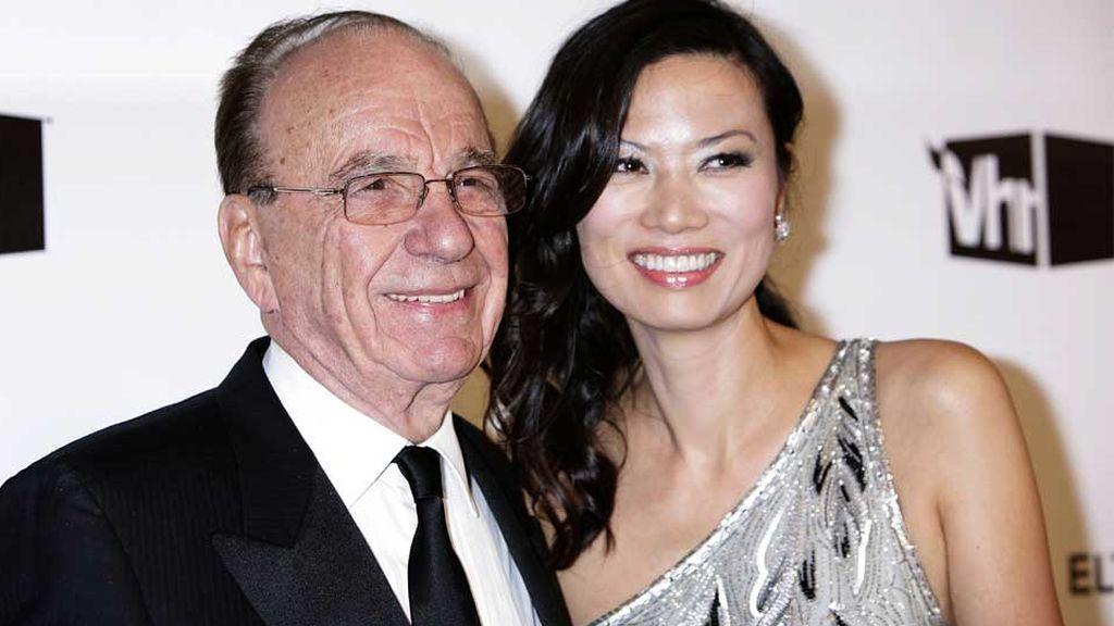 Rupert Murdoch con Wendi Deng, su tercera mujer