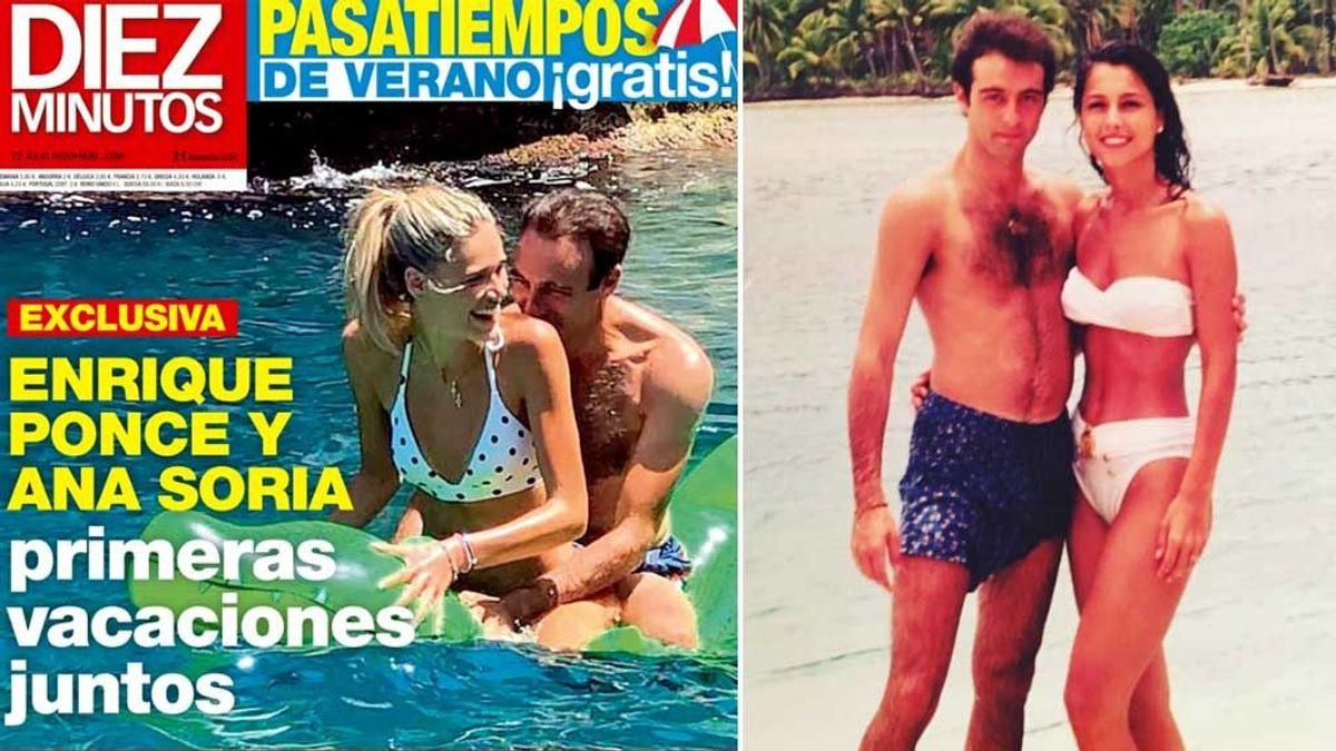 Enrique Ponce con Ana Soria (Diez Minutos) y con Paloma Cuevas (Instagram)