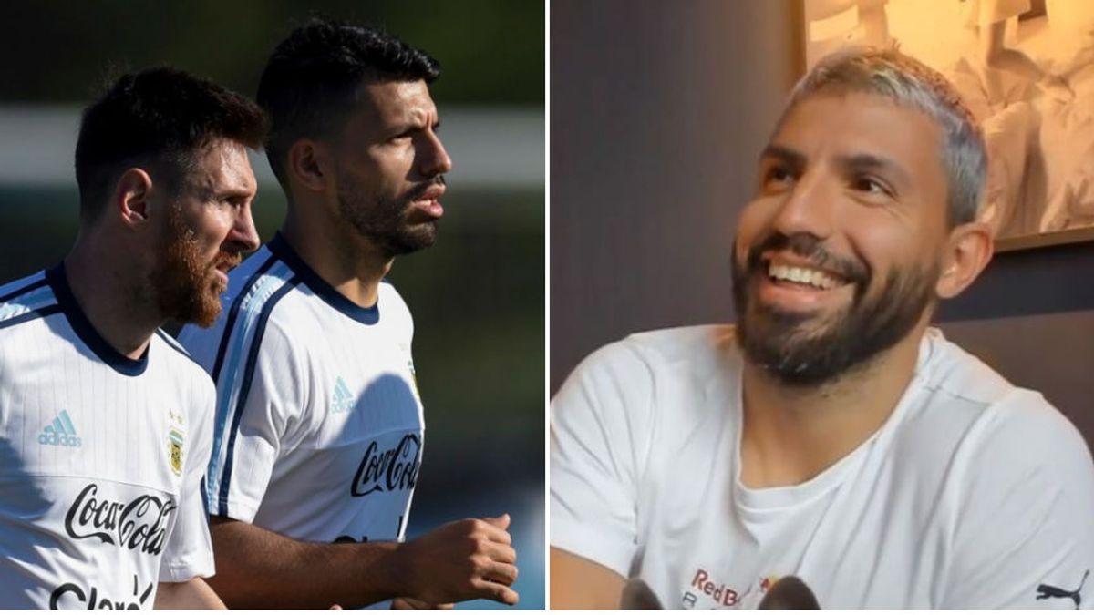 """Messi interrumpe el 'streaming' del Kun Aguëro para recordarle que tiene que ir al fisio: """"Déjate de boludeces"""""""
