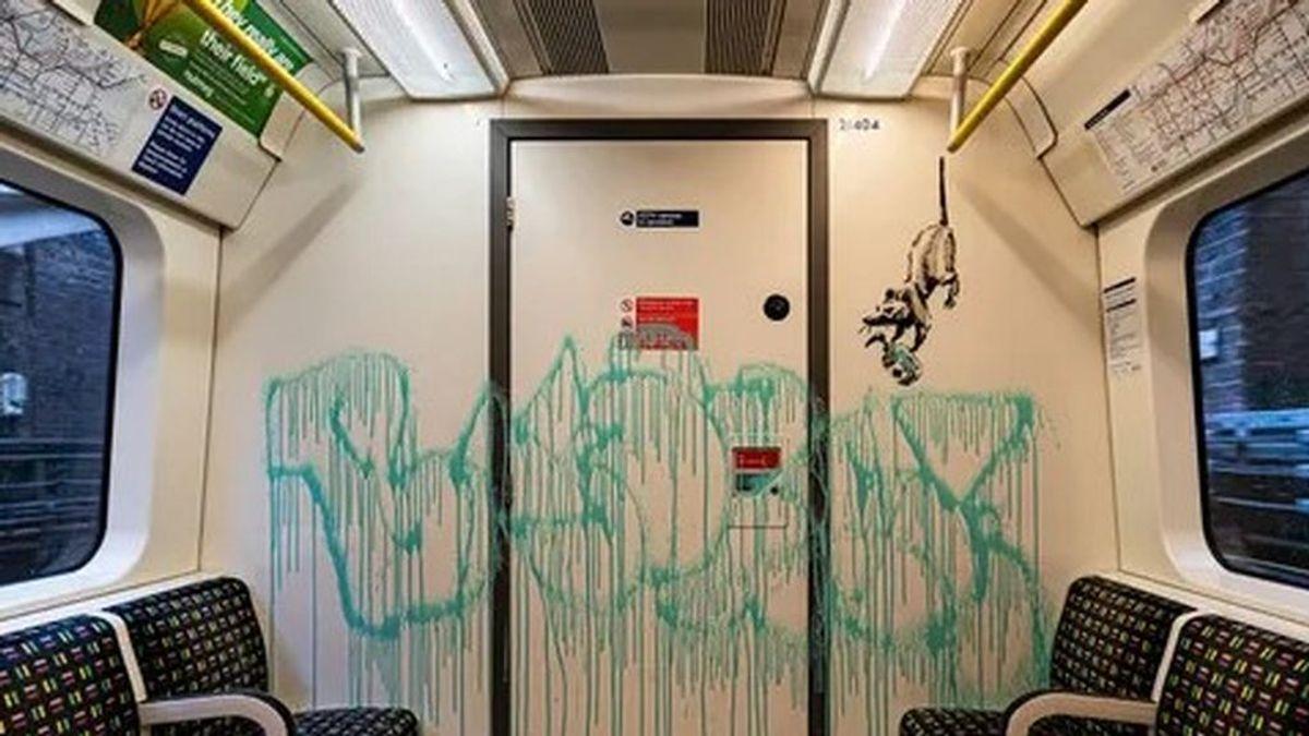 Borran las ratas con mascarillas de Banksy pintadas en el metro de Londres