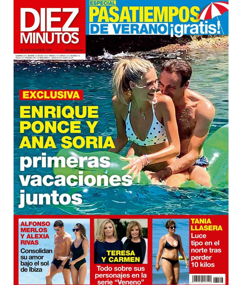 Enrique Ponce y Ana Soria en la portada de 'Diez Minutos'