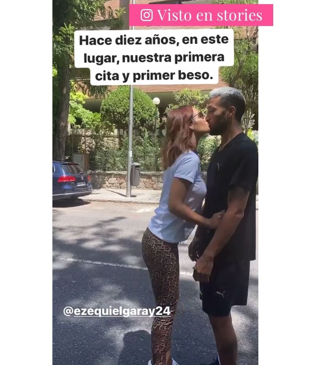 Tamara Gorro y Ezequiel Garay emulan su primer beso