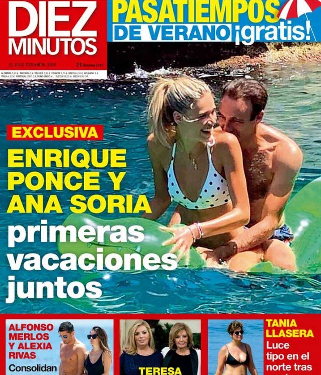 Enrique Ponce y Ana Soria, en la portada de Diez Minutos