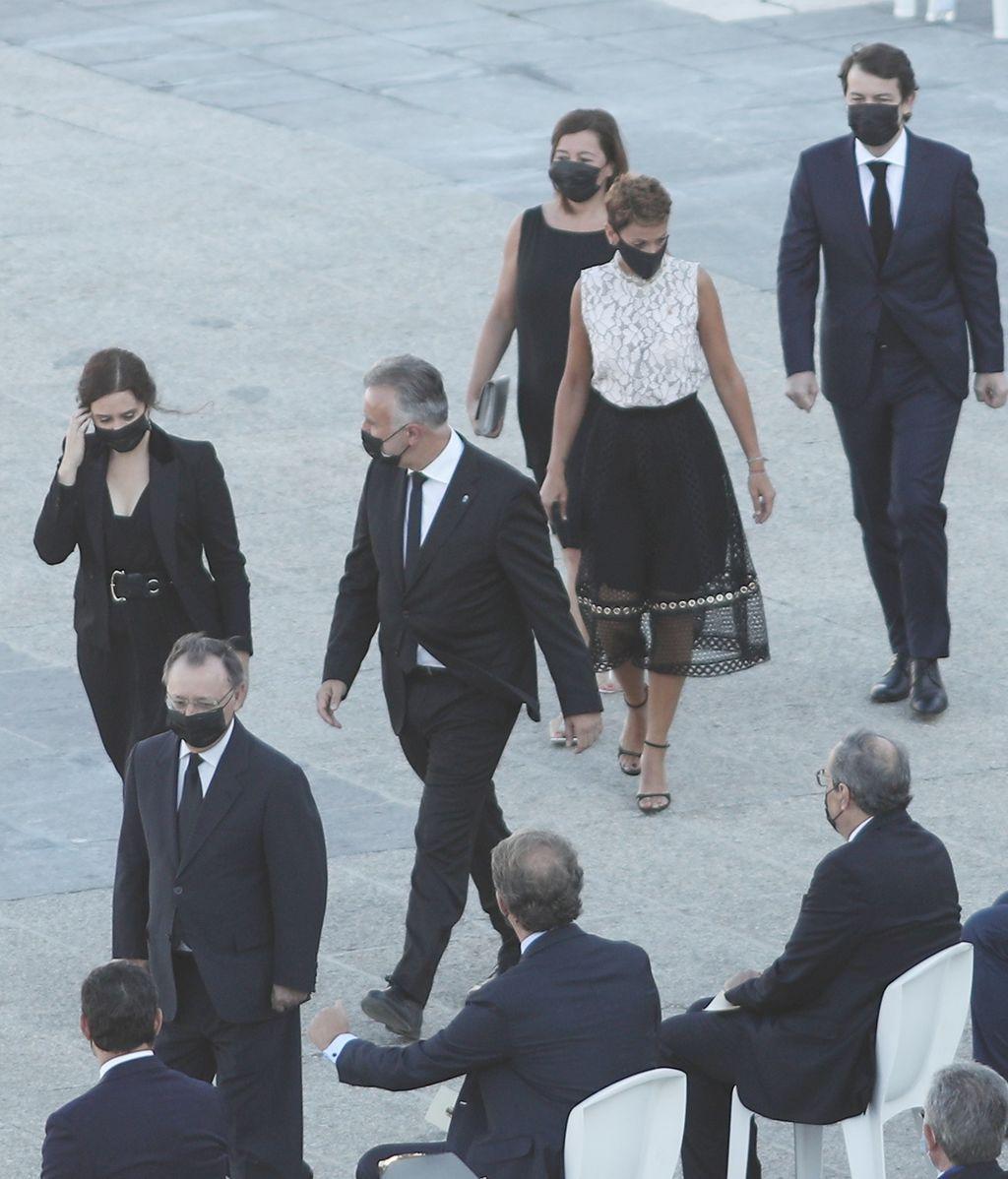 Los presidentes autonómicos de la Comunidad de Madrid, de Canarias y de Navarra