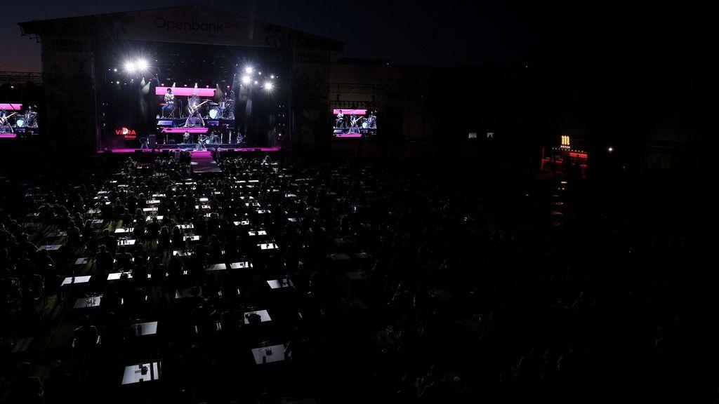 El recinto del concierto de 'Sidonie' ayer
