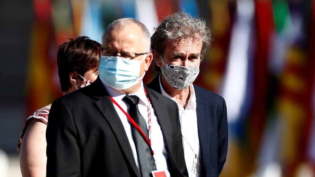 Fernando Simón en el homenaje a las víctimas del coronavirus