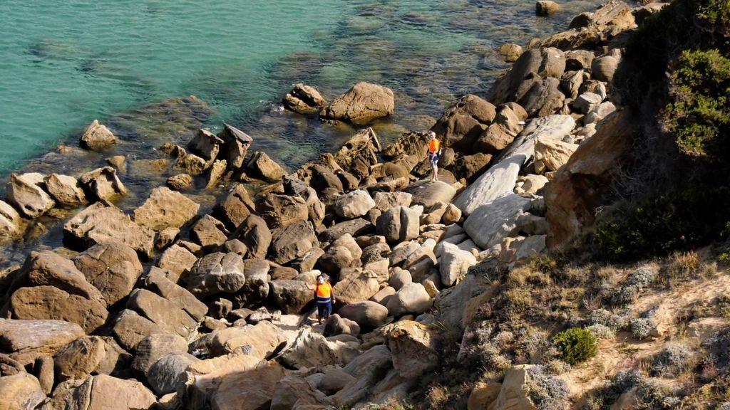La zona de búsqueda vista desde el faro de Punta Camarinal