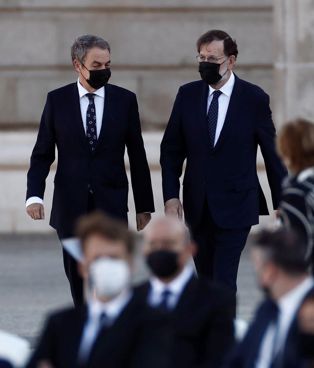 Los expresidentes del gobierno José Luis Rodríguez Zapatero y Mariano Rajoy
