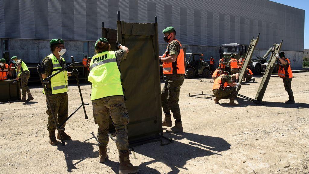 El Ejército despliega un campamento