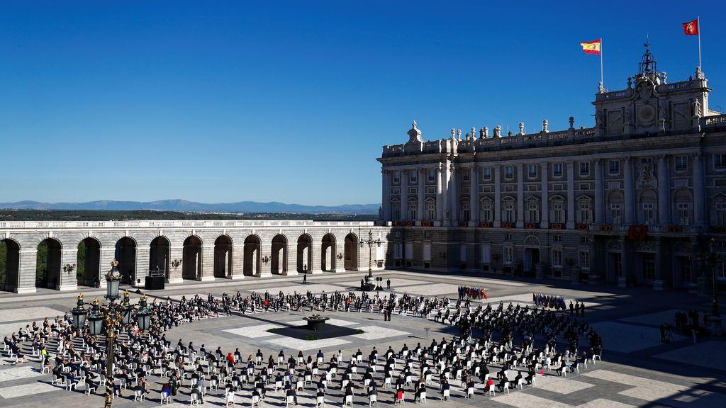 Imagen general del patio de la armería en el Palacio Real