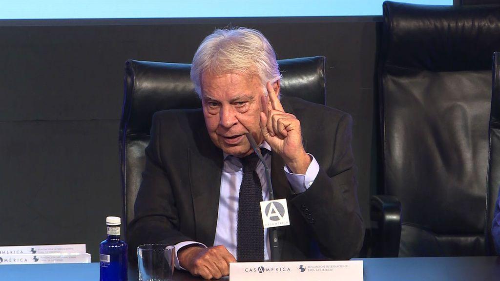 Felipe González desvela por qué no asistió al funeral de Estado