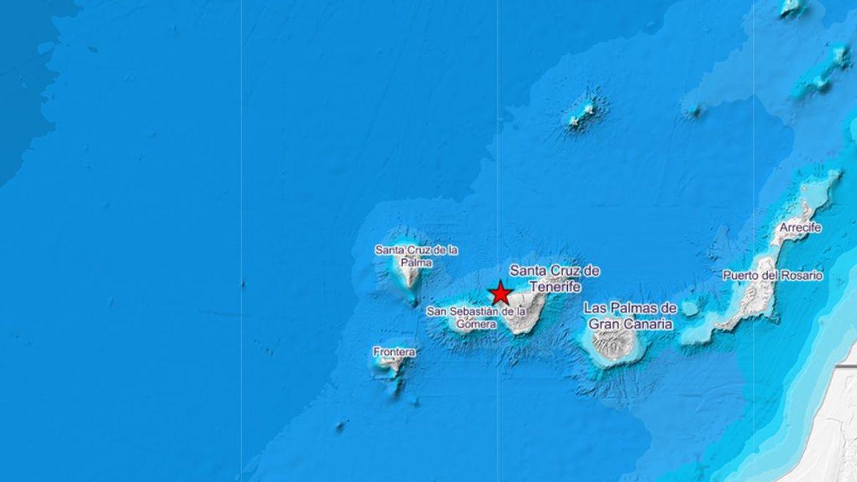Un terremoto de magnitud 4,1 se deja sentir en varias localidades de Santa Cruz de Tenerife