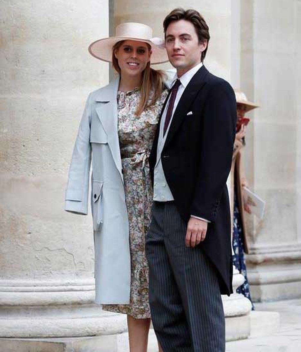 Beatriz de York y Edoardo Mapelli, en una boda en París (Octubre, 2019)