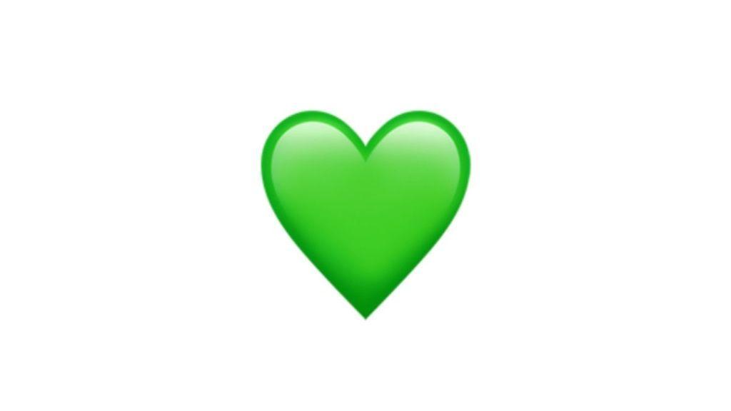 Emoji corazón verde