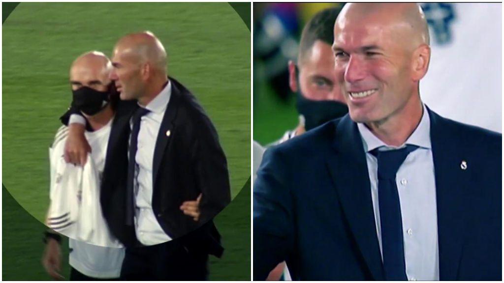 Zidane, jutno a Bettoni en la celebración.