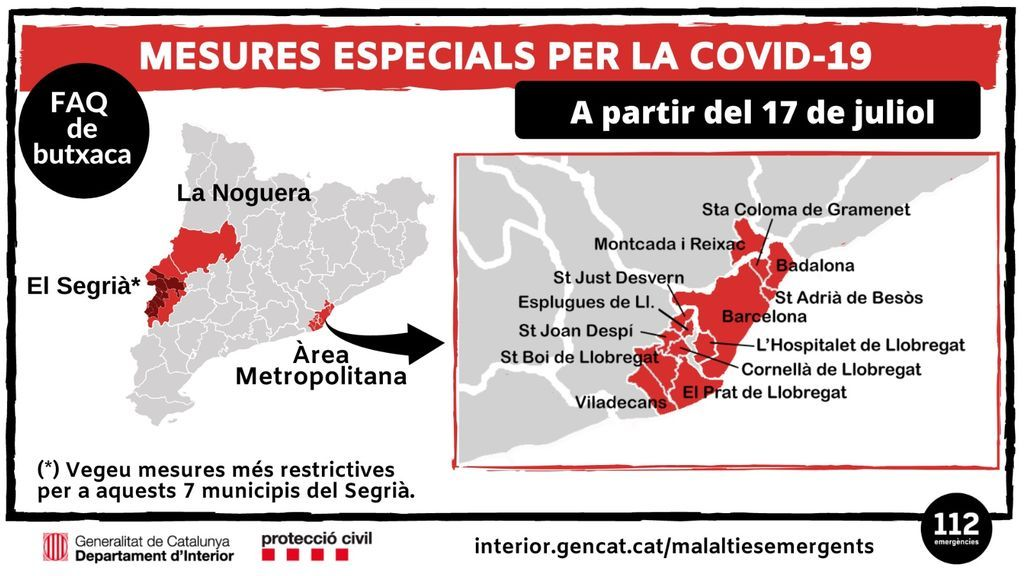 A qué municipios afectan estas medidas