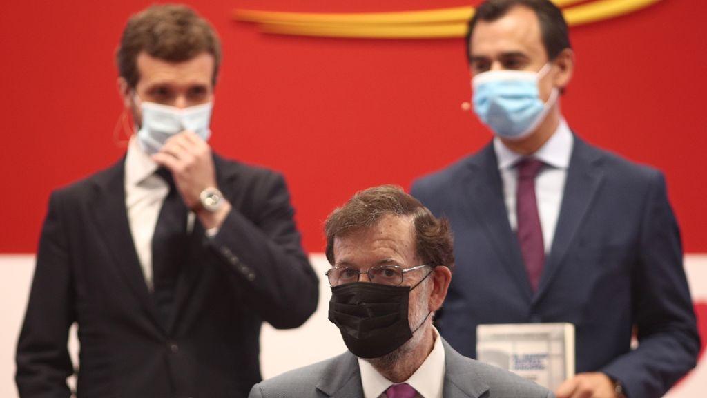 Pablo Casado y Mariano Rajoy en presentación del libro de Martínez-Maíllo