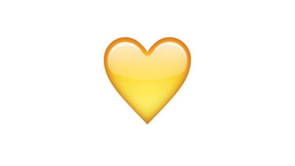 Emoji corazón amarillo