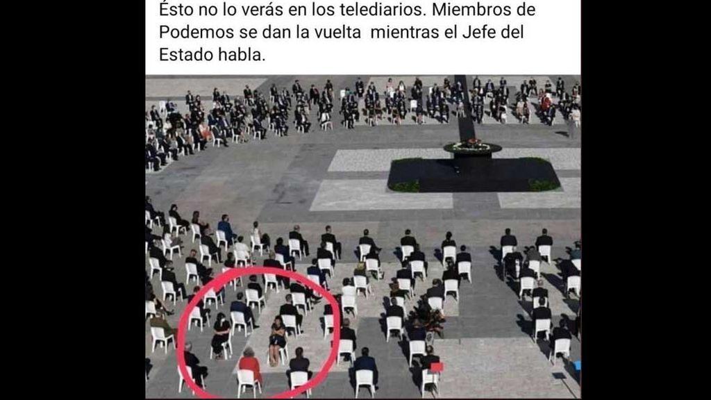 Imagen viral en Twitter, relacionando a las intérpretes de signos con miembros de Podemos