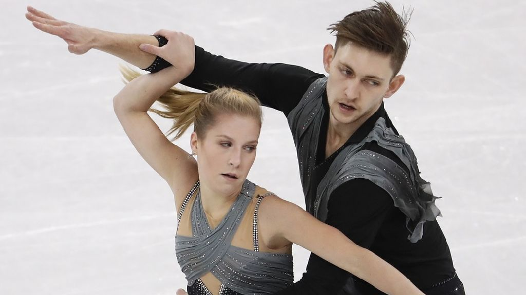 Ekaterina Alexandrovskaya y Harley Windsor, en los Juegos Olímpicos de 2018