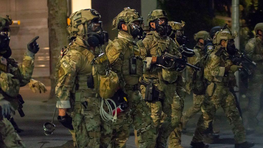 Misteriosas detenciones en Portland a manos de hombres con equipamiento militar en furgonetas sin identificar