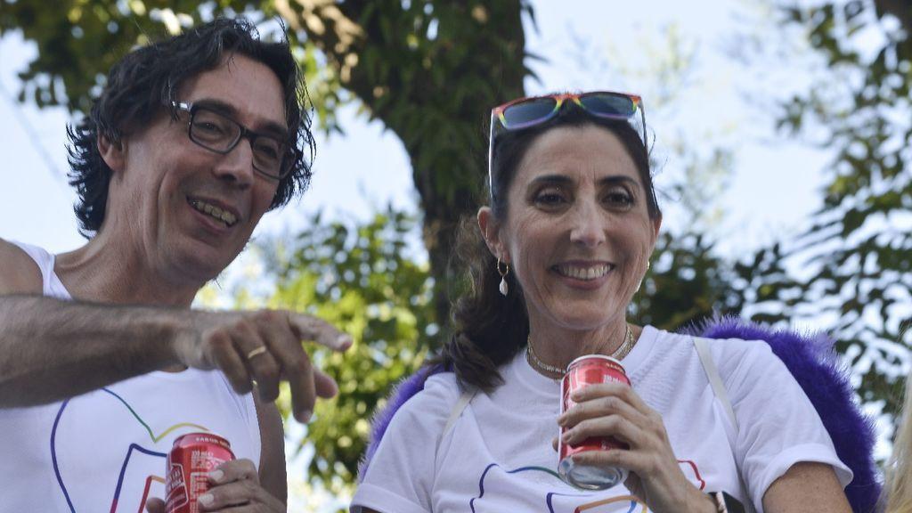 Paz Padilla y su marido, Juan Vidal, en una imagen de julio de 2019