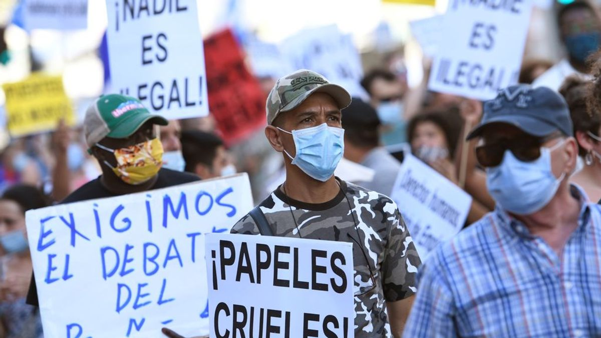 """Colectivos de migrantes se manifiestan en toda España para exigir su """"regularización, inmediata y sin condiciones"""""""
