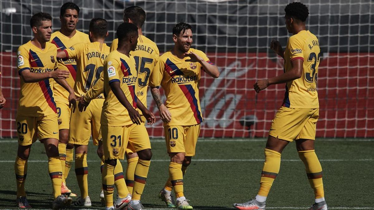 El Barça golea y Setién respira: Messi lidera al equipo consiguiendo mostrar una mejor cara