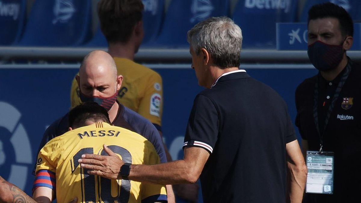 Messi y Setién se reunieron durante más de una hora para dejar atrás sus rencillas y mirar hacia la Champions