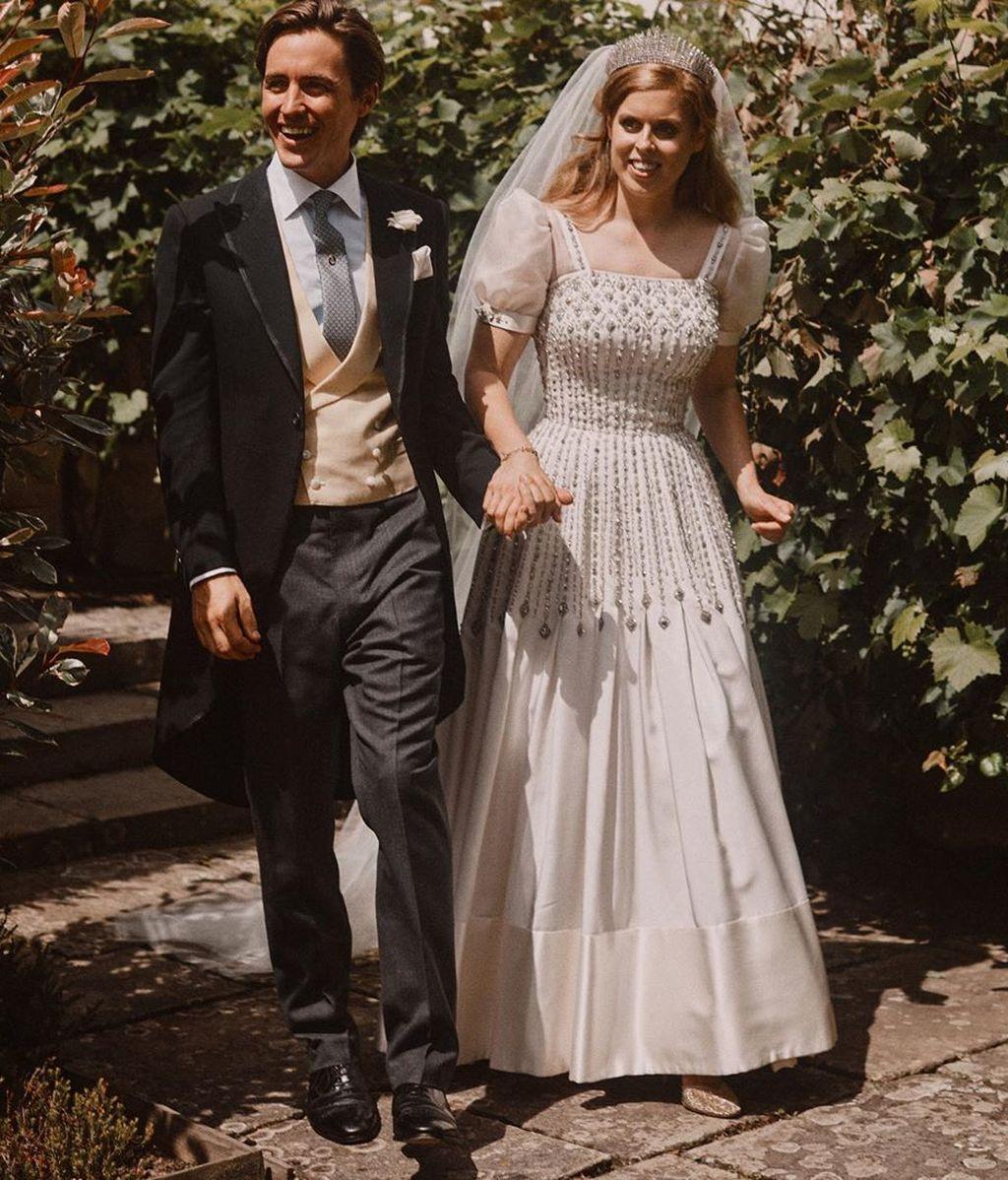 Beatriz de York y Edoardo Mapelli en el día de su boda