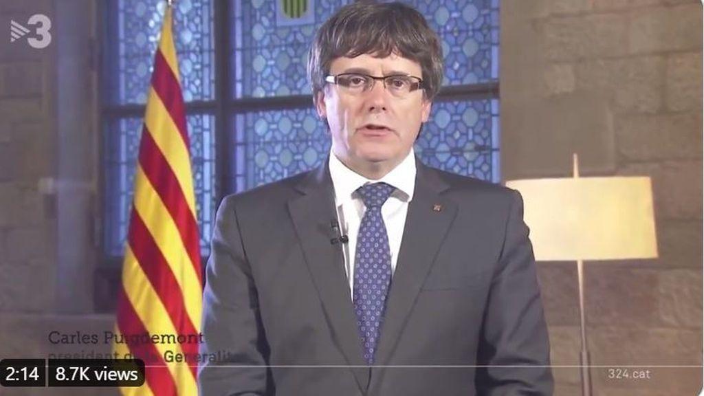 Puigdemont desvela el mensaje que grabó en 2017 en previsión de su detención