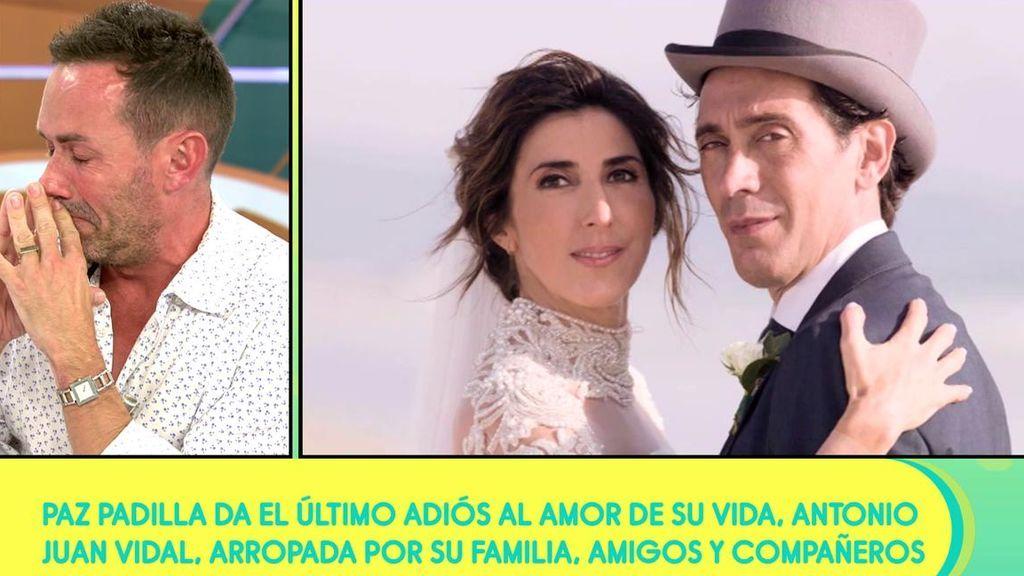 """Jesús Manuel Ruiz se rompe contando cómo Paz Padilla le contó lo sucedido con su marido: """"Me mandó un mensaje tan bonito"""""""