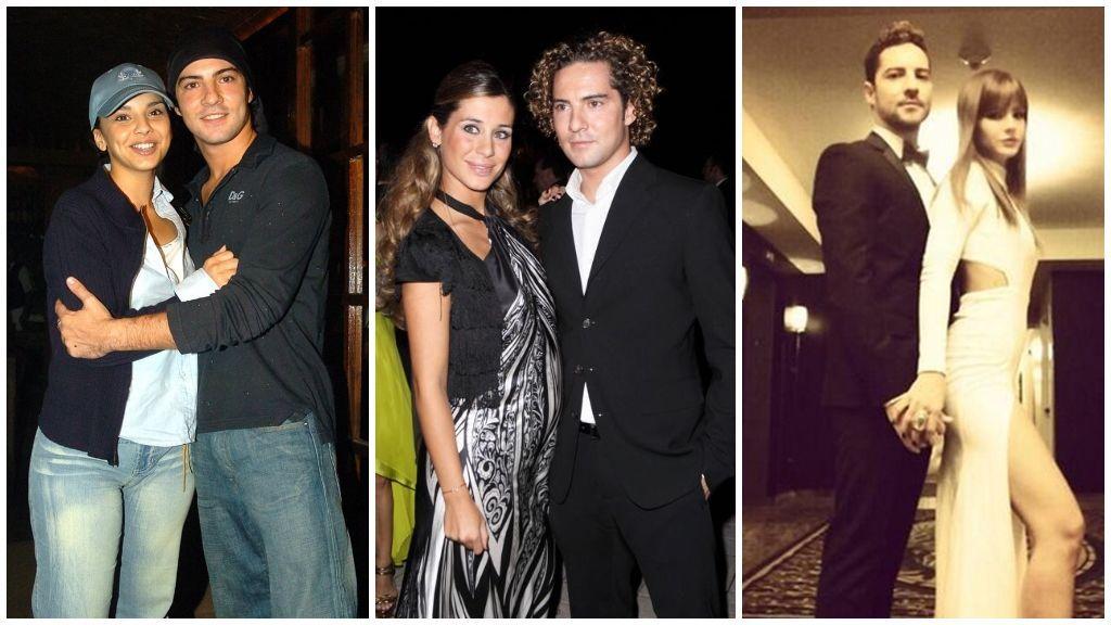 Antes de Rosanna, David salió con Chenoa, Elena Tablada y la China Suárez.