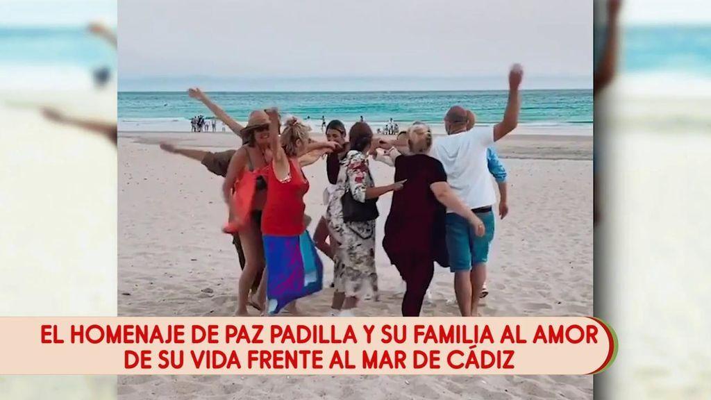 Paz Padilla y la familia de su marido