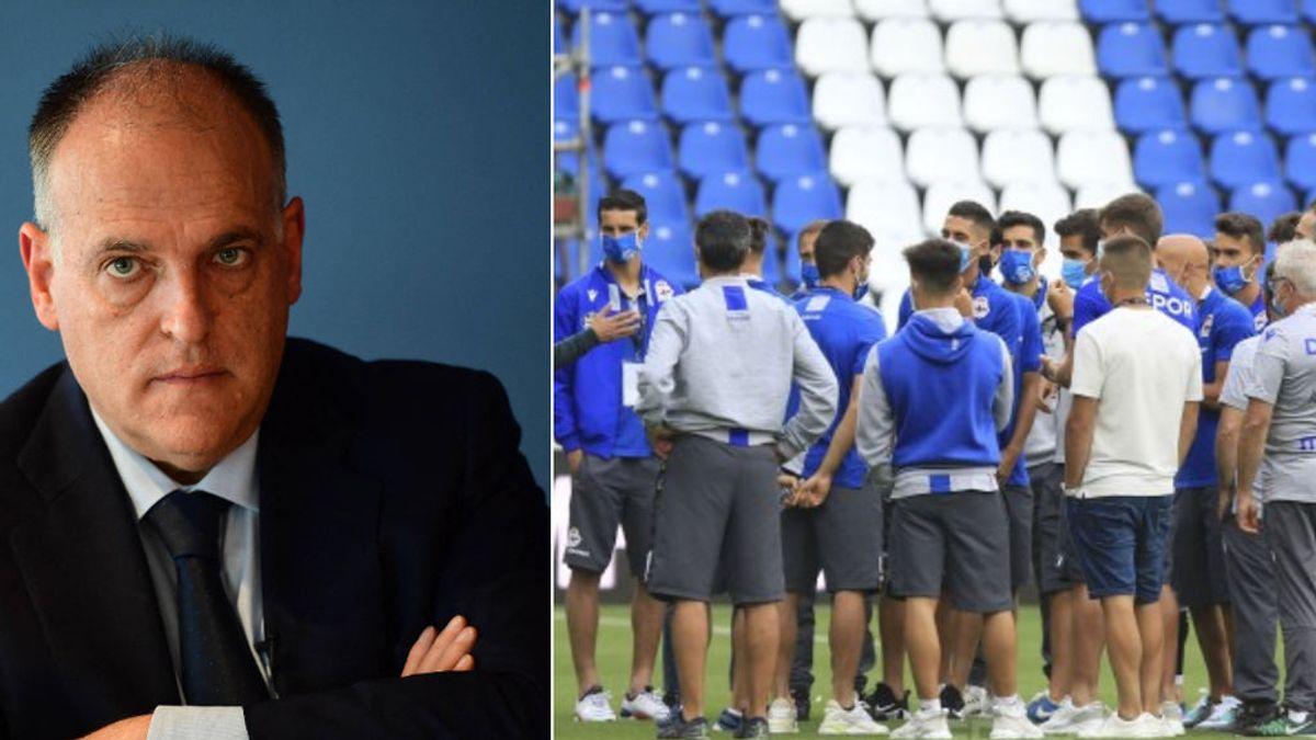 Indignación en el Deportivo tras el descenso: uno de los hijos de Javier Tebas es abogado del Fuenlabrada